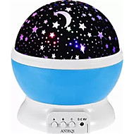 1pc 4 LED Bead Romantic Room Cosmos Star Projector Light Lamp Starry Moon Sky