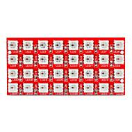 economico Accessori per Arduino-Keyes 2812-8 * 4 LED RGB a colori a 32 bit modulo lanterna (rosso)