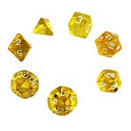 halpa Harrastukset-Arpakuutio Polyhedral Dice Set Lelut erinomainen Akryyli 7 Pieces Lahja