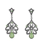 Πετράδι Κράμα Βοημία Style Πετράδια σχετικά με τον μήνα γέννησης Geometric Shape Πράσινο Κοσμήματα Γάμου Πάρτι Καθημερινά Causal 1 ζευγάρι