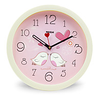 billige -(Farge tilfeldig) 8 inches barn soverom søt tegnefilm veggur mute sirkulær klokke kvarts klokke