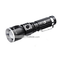 U'King ZQ-986 LED Flashlights/Torch Clips and Mounts LED 1000LM Lumens 3 Mode Cree XM-L T6 Batteries not included Adjustable Focus