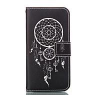 Для Кейс для  Samsung Galaxy Кошелек / Бумажник для карт / со стендом Кейс для Чехол Кейс для Цветы Мягкий Искусственная кожа Samsung