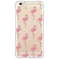 Назначение iPhone X iPhone 8 iPhone 6 iPhone 6 Plus Чехлы панели Защита от удара Защита от пыли Прозрачный Задняя крышка Кейс для Фламинго