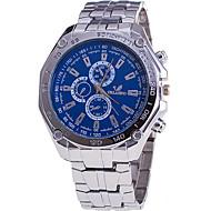 voordelige Chique horloges-Heren Kwarts Polshorloge / Vrijetijdshorloge Roestvrij staal Band Informeel Modieus Cool Zilver