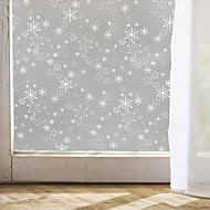 ablakfólia ablak matricák stílusú karácsonyi hópehely matt PVC fólia - (100 x 45) cm