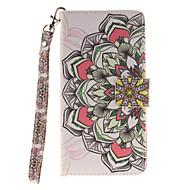 Для Кейс для  Samsung Galaxy Бумажник для карт / Кошелек / Флип / С узором Кейс для Чехол Кейс для Цветы Твердый Искусственная кожа