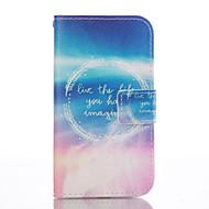 Для Кейс для  Samsung Galaxy Кошелек / Бумажник для карт / со стендом / Флип Кейс для Чехол Кейс для Слова / выражения Мягкий
