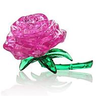 παζλ Παζλ 3D Κρυστάλλινα παζλ Δομικά στοιχεία DIY παιχνίδια Τριαντάφυλλα