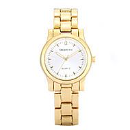 Недорогие Фирменные часы-REBIRTH Женские Нарядные часы Модные часы Повседневные часы Кварцевый сплав Группа Повседневная Элегантные часы Золотистый Розовое золото