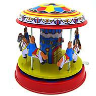 お買い得  おもちゃ & ホビーアクセサリー-ゼンマイ式玩具 ストレス解消グッズ おもちゃ レトロ風 アイデアジュェリー サーキュラー 馬 回転木馬 鉄 メタル ヴィンテージ レトロ風 1 小品 クリスマス 誕生日 こどもの日 ギフト