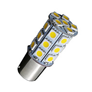 voordelige -10x warm wit 1156 BA15s 27SMD 5050 LED verlichting rv camper auto back-up 7506