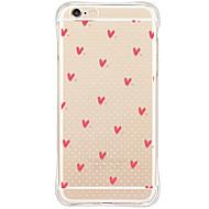 Недорогие Кейсы для iPhone 8 Plus-Кейс для Назначение Apple iPhone X iPhone 8 iPhone 6 iPhone 6 Plus Защита от пыли Защита от удара С узором Кейс на заднюю панель С сердцем