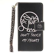 Для Кейс для  Samsung Galaxy Кошелек / Бумажник для карт / Флип / С узором Кейс для Чехол Кейс для Слова / выражения ТвердыйИскусственная