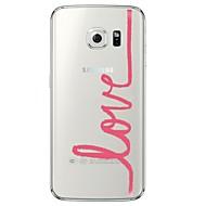 Mert Samsung Galaxy S7 Edge Átlátszó / Minta Case Hátlap Case Szó / bölcselet Puha TPU SamsungS7 edge / S7 / S6 edge plus / S6 edge / S6