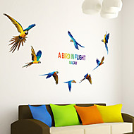 voordelige -Dieren Wall Stickers Vliegtuig Muurstickers Decoratieve Muurstickers,PVC Materiaal Verstelbaar Huisdecoratie Muursticker