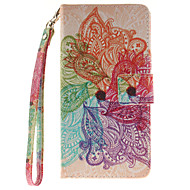 Для Кейс для  Samsung Galaxy Кошелек / Бумажник для карт / Флип / С узором Кейс для Чехол Кейс для Цветы Твердый Искусственная кожа