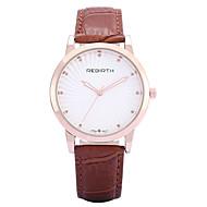 Недорогие Фирменные часы-REBIRTH Жен. Модные часы / Наручные часы / Позолоченное розовым золотом / PU Группа На каждый день / минималист Черный / Красный / Коричневый