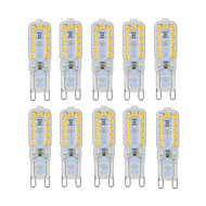 ywxlight® 6w g9 led bi-pin lights 22 smd 2835 450-550 lm branco quente branco frio dimmable decorativo ac 220-240 ac 110-130 v 10pcs