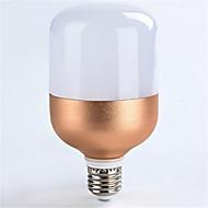 1pc 18w e27 1600lm δροσερό λευκό χρώμα οδήγησε προβολείς σφαίρα φωτισμού αυξήθηκε χρυσό κέλυφος (ac160-265v)