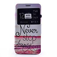 Недорогие Чехлы и кейсы для Galaxy Note-Кейс для Назначение SSamsung Galaxy Samsung Galaxy Note Бумажник для карт со стендом с окошком Флип С узором Чехол Слова / выражения