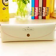 coreano de la manera sencilla de caramelo macarrón linda del pvc caja de lápices de colores por la caja de empaquetado