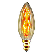 1pc 40W E14 C35 Bianco caldo 2300k Retrò / Oscurabile / Decorativo Incandescente Vintage Edison Lampadina 220-240V