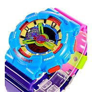 billige -SANDA Herre Sportsklokke Digital Watch Quartz Digital Japansk Quartz Alarm Kalender Vannavvisende Dobbel Tidssone Selvlysende