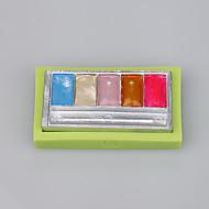 abordables Cocina y Comedor-rectángulo de las mujeres forma de sombra molde de silicona fondant herramientas de decoración de pasteles de color al azar
