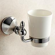 お買い得  浴室用小物-歯ブラシホルダー / 浴室小物 / ミラーポリッシュ仕上げ / ウォールマウント /3.9*3.9*5.9 inch /真鍮 / 亜鉛合金 /モダン /10CM 10CM 0.55KG