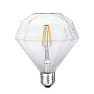 3.5 E26/E27 LED필라멘트 전구 G125 4 LED가 SMD 5730 장식 옐로 280-320lm 2300K AC 220-240V