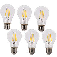 cheap LED Filament Bulbs-4W E26/E27 LED Filament Bulbs A60(A19) 4 COB 400 lm Warm White Cold White K Waterproof Decorative AC 220-240 V