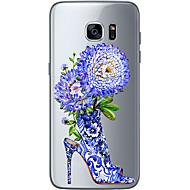 Недорогие Чехлы и кейсы для Galaxy S6 Edge Plus-Кейс для Назначение SSamsung Galaxy Samsung Galaxy S7 Edge С узором Кейс на заднюю панель Цветы Мягкий ТПУ для S7 edge S7 S6 edge plus S6