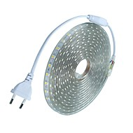 20m / 1pcs 220v 5050 leidde flexibele tape rope strip licht xmas buiten waterdicht tuin outdoor lightingeu stekker eu