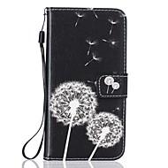 Недорогие Чехлы и кейсы для Galaxy S7-Кейс для Назначение SSamsung Galaxy Samsung Galaxy S7 Edge Бумажник для карт Кошелек со стендом Чехол одуванчик Твердый Кожа PU для S7