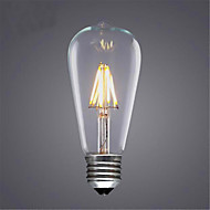 cheap LED Filament Bulbs-1pc 4W 400lm E26 / E27 LED Filament Bulbs ST64 4pcs LED Beads COB Decorative Warm White Cold White 220-240V