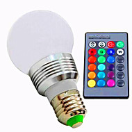 Ac85-265v 3w e26 / e27 rgb controlul la distanță decolorare led inteligente bulbs1pc