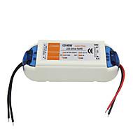 olcso LED meghajtó-ac 90-240v 0.62a dc 12v 4a 48W led elektromosan állítható vezetőülés - fehér narancs
