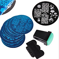 cheap Makeup & Nail Care-12pcs Stamping Plate Stylish / Fashion Nail Art Design Fashionable Design Daily