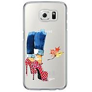 Для Samsung Galaxy S7 Edge Прозрачный / С узором Кейс для Задняя крышка Кейс для Other Мягкий TPU SamsungS7 edge / S7 / S6 edge plus / S6