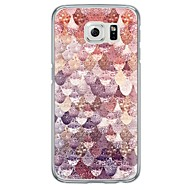 billige Galaxy S6 Edge Plus Etuier-For Samsung Galaxy S7 Edge Ultratyndt / Gennemsigtig Etui Bagcover Etui Geometrisk mønster Blødt TPU SamsungS7 edge / S7 / S6 edge plus /