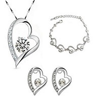 cheap Jewelry Sets-Women's Crystal Sterling Silver / Crystal / Gold Plated Adorable Jewelry Set Earrings / Necklace / Bracelets & Bangles - Love / Fashion /