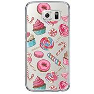 Недорогие Чехлы и кейсы для Galaxy S6 Edge Plus-Кейс для Назначение SSamsung Galaxy Samsung Galaxy S7 Edge Ультратонкий / Полупрозрачный Кейс на заднюю панель Плитка Мягкий ТПУ для S7 edge / S7 / S6 edge plus