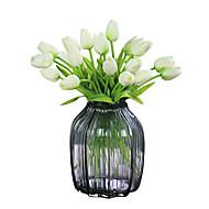 povoljno -1 Podružnica Polyester Tulips Cvjeće za stol Umjetna Cvijeće