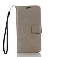 Недорогие Чехлы и кейсы для Galaxy Core Prime-Кейс для Назначение SSamsung Galaxy Кейс для  Samsung Galaxy Бумажник для карт Кошелек со стендом Чехол Сплошной цвет Твердый Кожа PU для