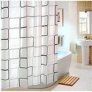 お買い得  浴室用小物-シャワー用カーテン 近代の PEVA チェック 機械製