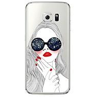 Varten Samsung Galaxy S7 Edge Läpinäkyvä / Kuvio Etui Takakuori Etui Seksikäs nainen Pehmeä TPU SamsungS7 edge / S7 / S6 edge plus / S6