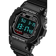 Недорогие Фирменные часы-SANDA Муж. Спортивные часы Смарт Часы Наручные часы Цифровой Японский кварц 30 m Защита от влаги Секундомер LED силиконовый Группа Аналого-цифровые На каждый день Мода Черный / Серебристый металл -