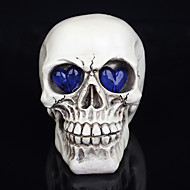 1PC Halloween Decorations Novelty Toys Resin Skulls Eyes Glowing Ghost A Night Light
