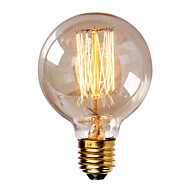 G80 E27 40W Incandescent Vintage Light Bulb for Household Bar Coffee Shop Hotel (AC220-240V)
